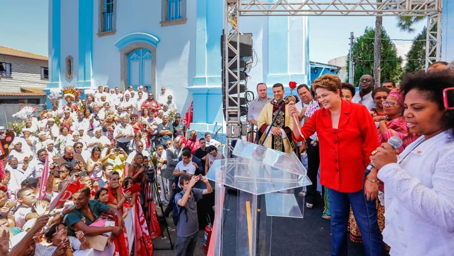 Dilma Rousseff faz campanha em Nova Lima (MG) - 13/09/2014