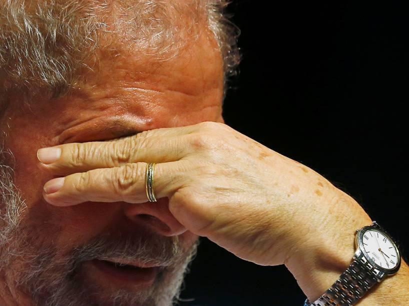 O ex-presidente Lula, participa de evento com líderes sindicais, contra a privatização de empresas estatais brasileiras e contra o presidente da República em exercício, Michel Temer, no Rio de Janeiro (RJ) - 06/06/2016