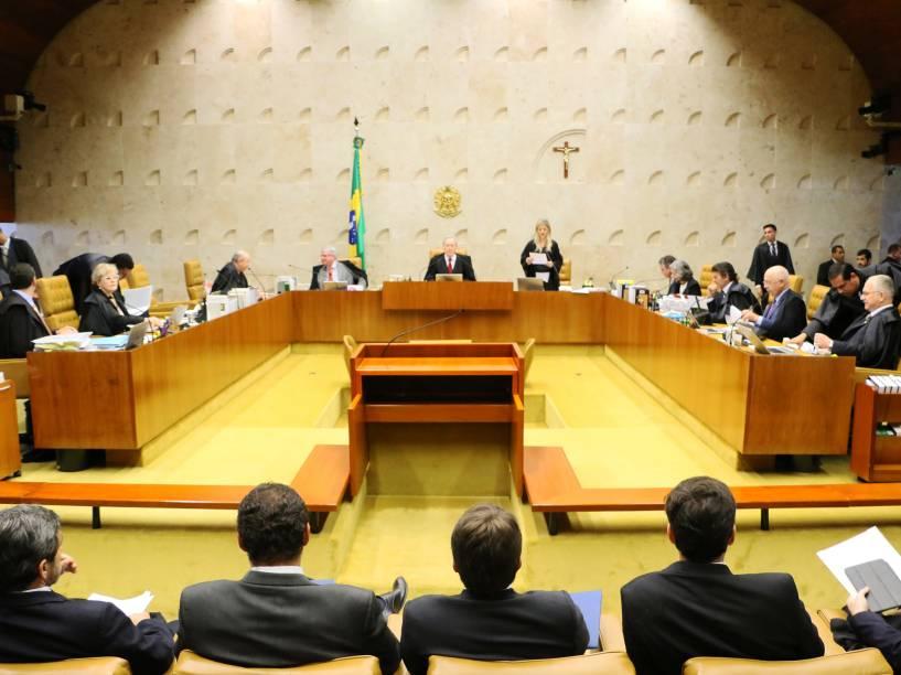 Julgamento de afastamento do mandato de Eduardo Cunha como deputado federal, e da presidencia da Câmara dos Deputados, no Supremo Tribunal Federal (STF), em Brasília (DF) - 05/05/2016