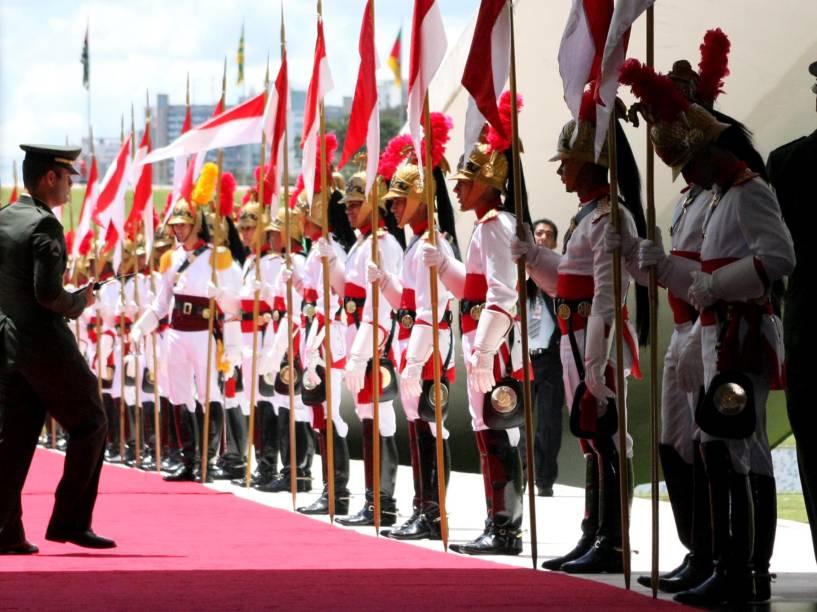 Dragões da Independência em Brasília (DF), antes da posse da presidente Dilma Rousseff