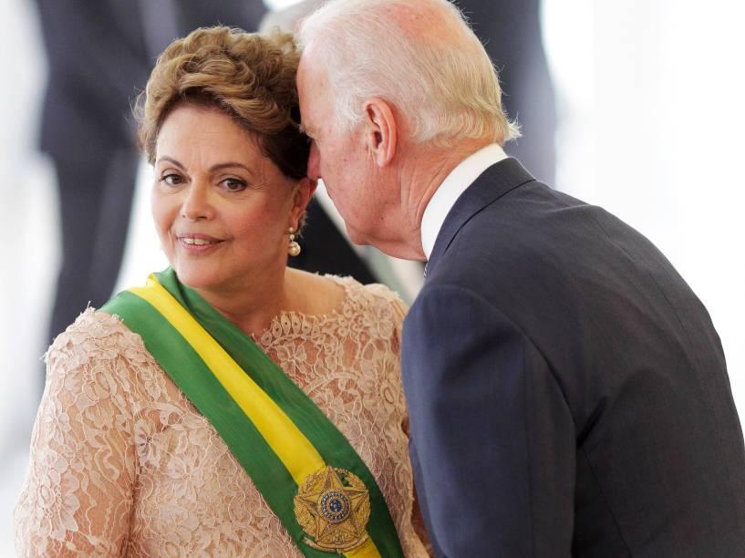 Presidente Dilma recebe os cumprimentos do vice-presidente dos Estados Unidos Joe Biden - 01/01/2015