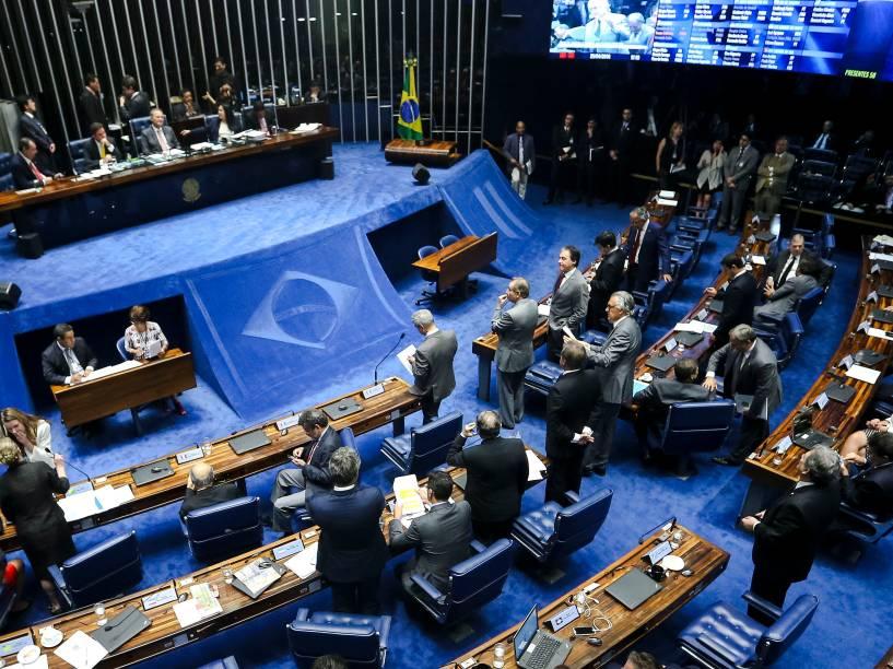 Senadores se reúnem em plenário para eleição da comissão especial que analisará a admissibilidade do pedido de impeachment da presidente Dilma Rousseff - 25/04/2016