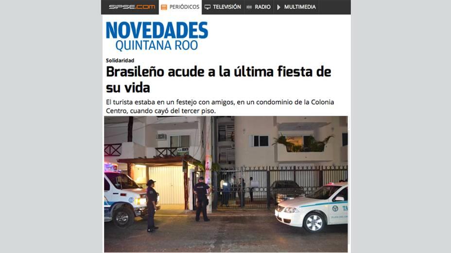Local onde o brasileiro Dealberto Jorge Silva foi encontrado morto em Playa de Carmen, no México