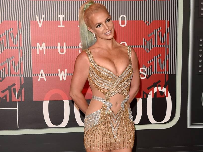Britney Spears no Video Music Awards, da MTV, em Los Angeles, neste domingo (30)