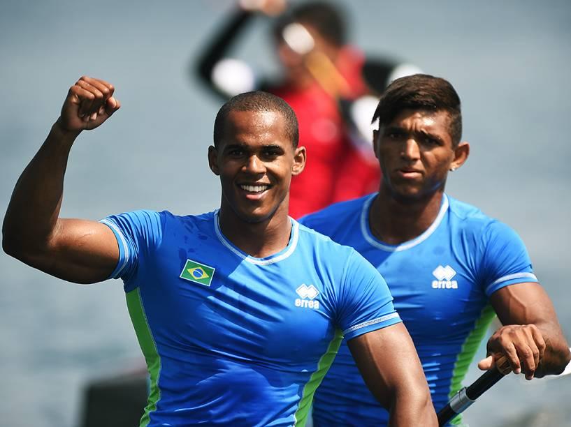 Brasileiros durante os Jogos de Toronto, no Canadá