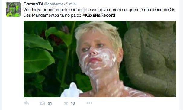 Meme da estreia do programa Xuxa Meneghel, na Record