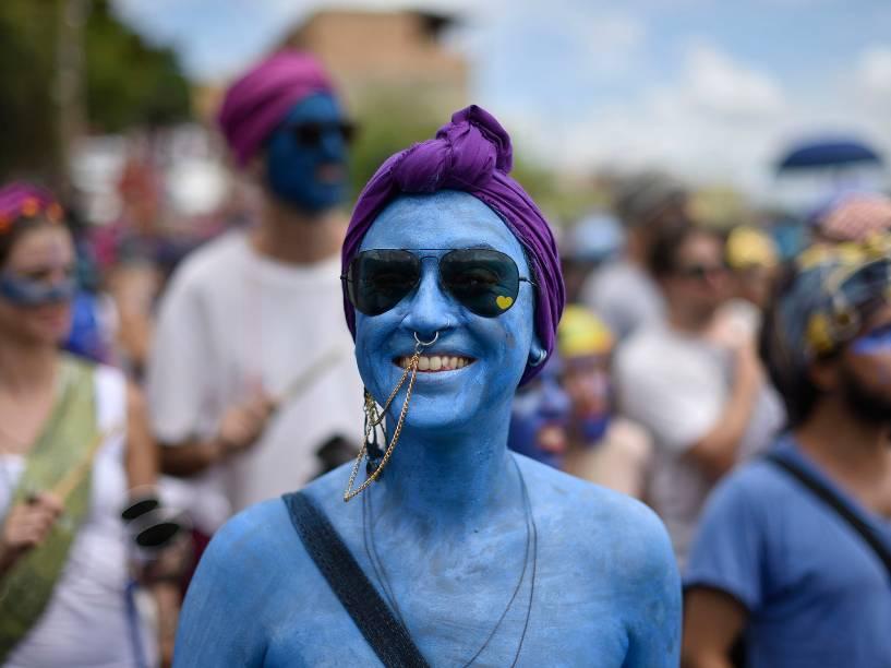 Em Belo Horizonte,  o bloco Pena de Pavão de Krishna