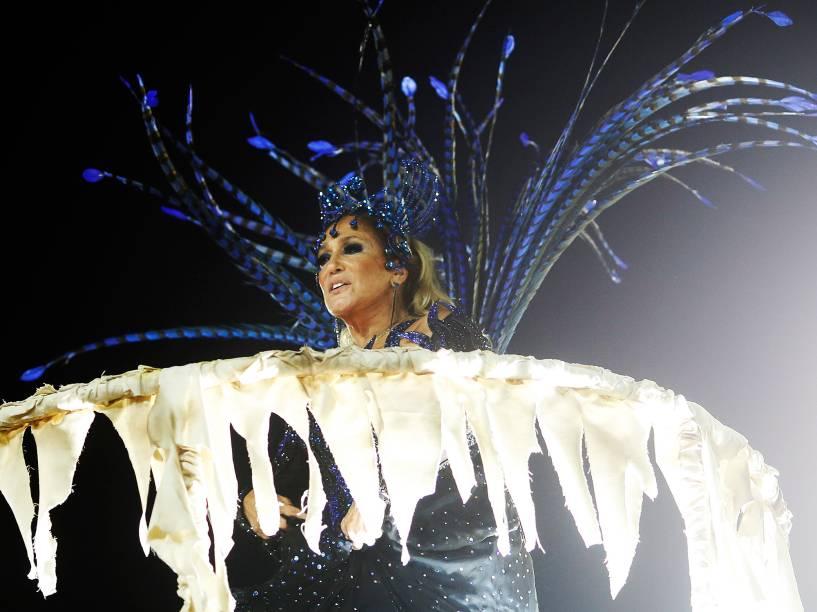 A atriz Susana Viera é destaque em carro da Acadêmicos do Grande Rio