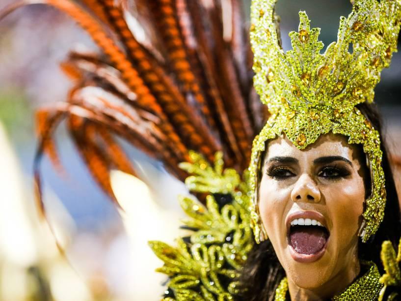 A apresentadora Daniela Albuquerque é um dos destaques da Acadêmicos do Grande Rio