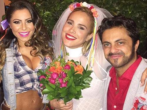 Andressa Ferreira, Wanessa Camargo e Thammy Miranda em festa julina