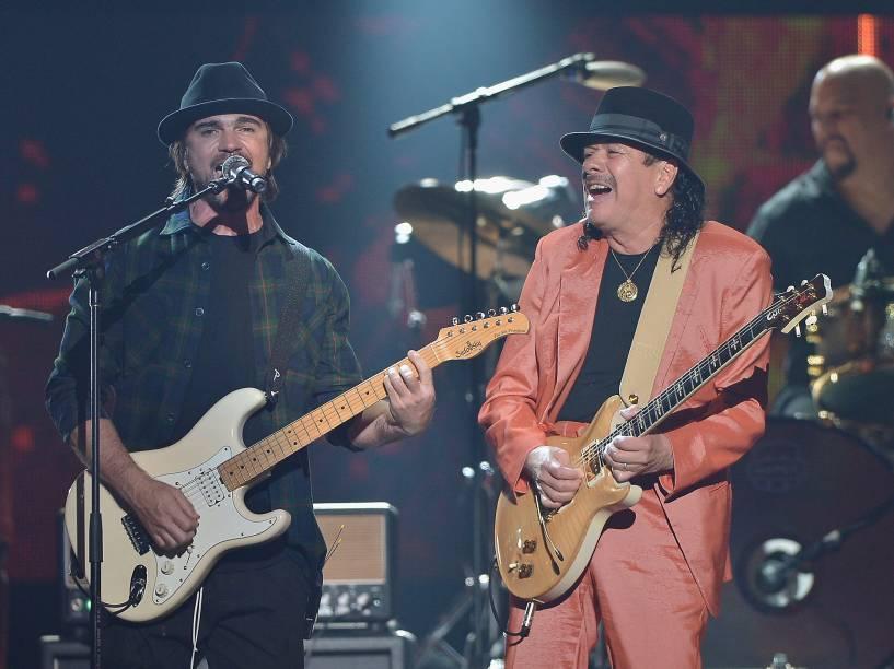 Juanes e Santana na premiação Billboard da Música Latina 2015