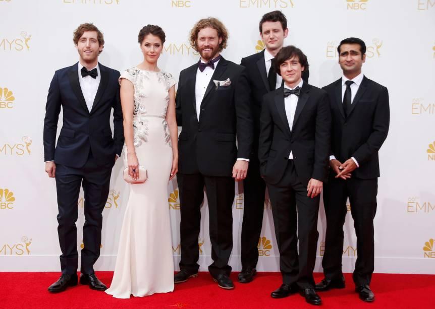 O elenco da série Silicon Valley chega para o 66º Emmy, em Los Angeles