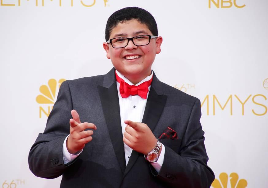O ator Rico Rodriguez da série Modern Family chega para o 66º Emmy, em Los Angeles
