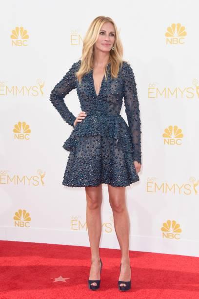 A atriz Julia Roberts chega para o 66º Emmy, em Los Angeles