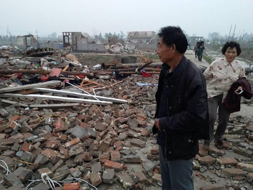 Tornado atinge região da província de Jiangsu, na China - 23/06/2016
