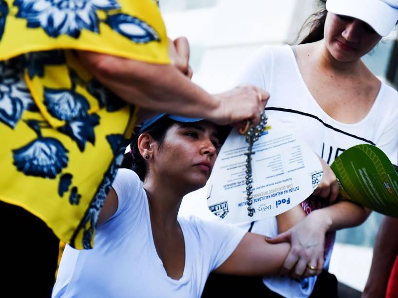 Romeiros acompanham a 223ª edição do Círio de Nazaré, a maior procissão católica do Brasil, realizada neste domingo (11), em Belém