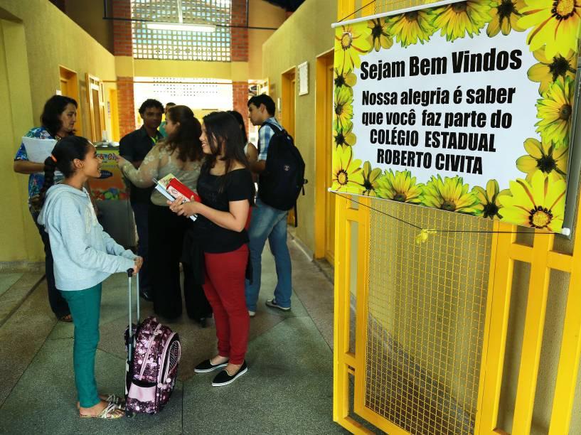 Inauguração da Escola Estadual Roberto Civita, no Residencial Kátia, em Goiânia