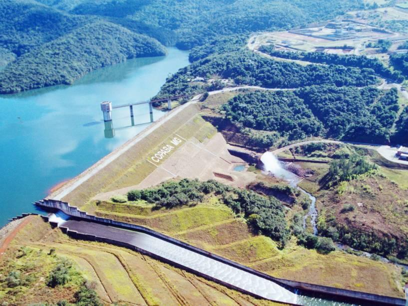 Reservatório Rio Manso, o maior de Minas Gerais, em Conceição do Itaguá, distrito de Brumadinho (MG), em foto de 2012