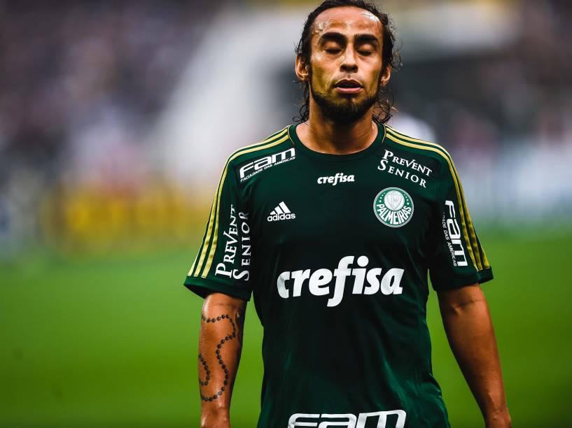 Valdivia do Palmeiras na partida contra o Corinthians, válida pelas semifinais do Campeonato Paulista 2015