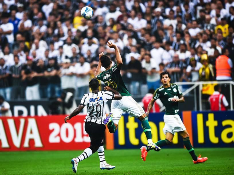 Partida entre Corinthians e Palmeiras, válida pela semifinal do Campeonato Paulista de Futebol 2015