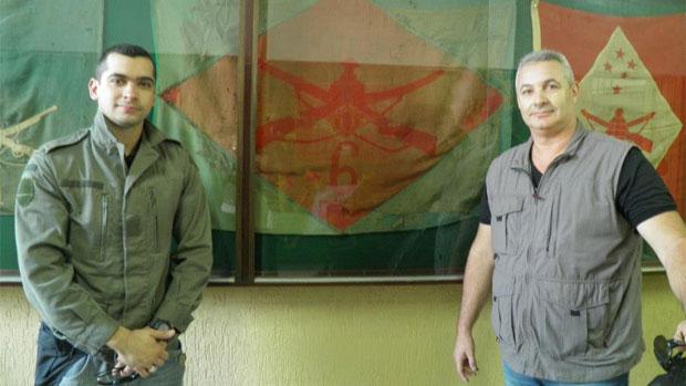 Coronel Telhada e seu filho Rafael Telhada, tenente da Rota