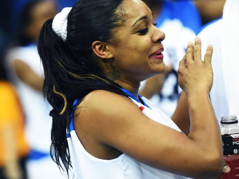 Atleta da seleção cubana de basquete