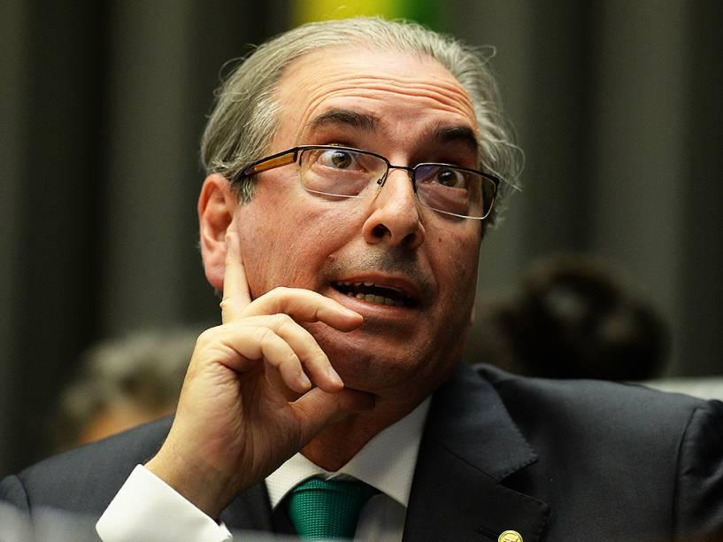 Ex-presidente da Câmara dos Deputados, Eduardo Cunha (PMDB-RJ), durante eleição da comissão que irá analisar o processo de impeachment de Dilma Rousseff, em Brasília (DF)