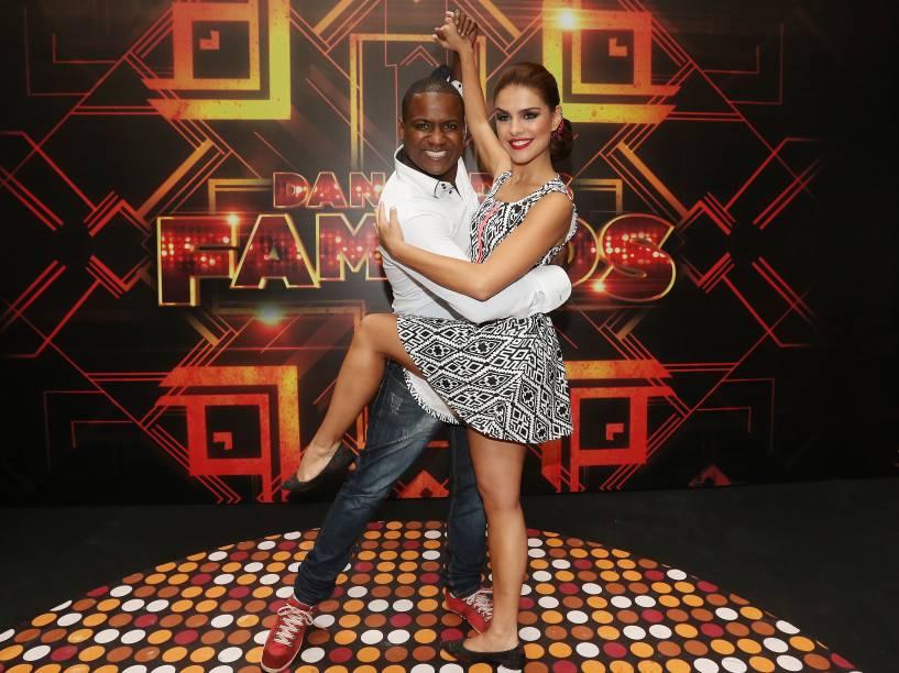 Paloma Bernardi e Patrick Carvalho se preparam para a grande final da Dança dos Famosos 2014