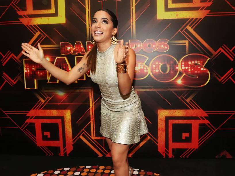 Anitta nos bastidores da final da Dança dos Famosos