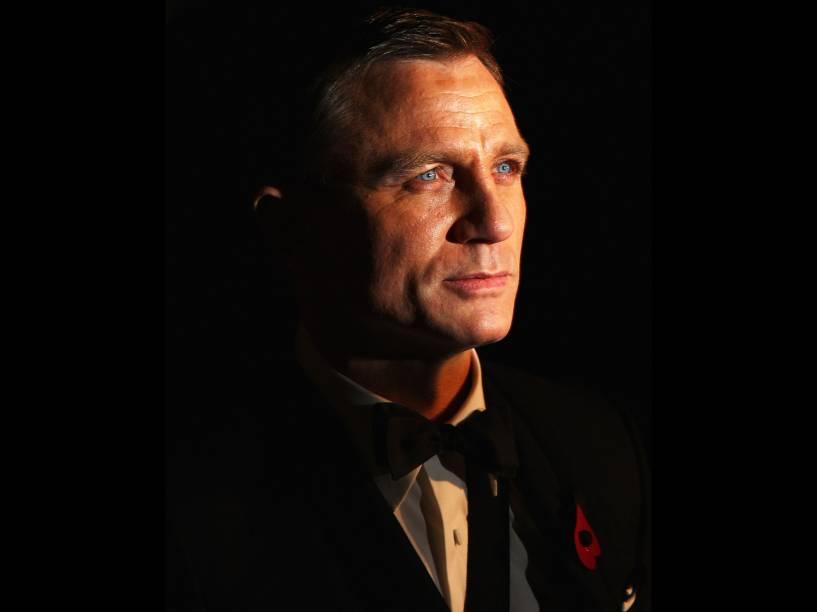 Daniel Craig durante evento de lançamento do filme 007 - Quantum of Solace em 2008, em Londres