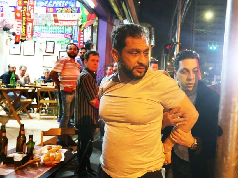 Luís Alexandre Magalhães, foi preso em flagrante na noite de quarta-feira (17) em um bar no Tatuapé, Zona Leste de São Paulo