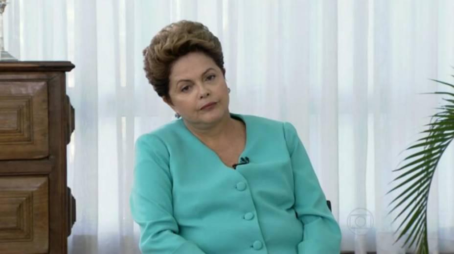 Dilma: irritação no Bom Dia Brasil. A entrevista foi ao ar no dia 22/09/2014