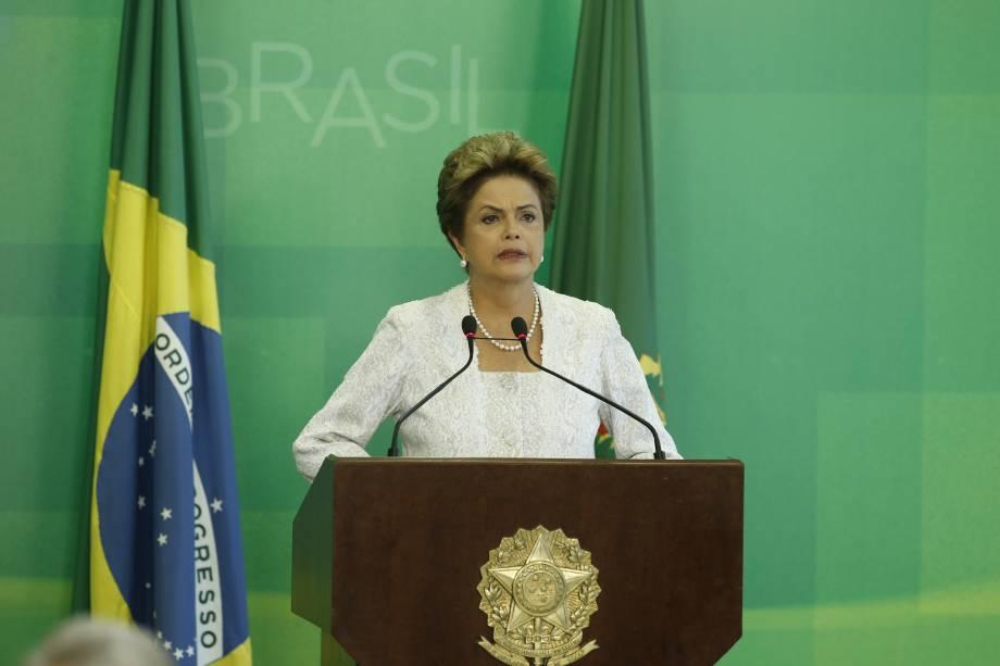 A presidente Dilma Rousseff anunciou nesta sexta-feira (2) no Palácio do Planalto, em Brasília (DF), a reforma ministerial do governo