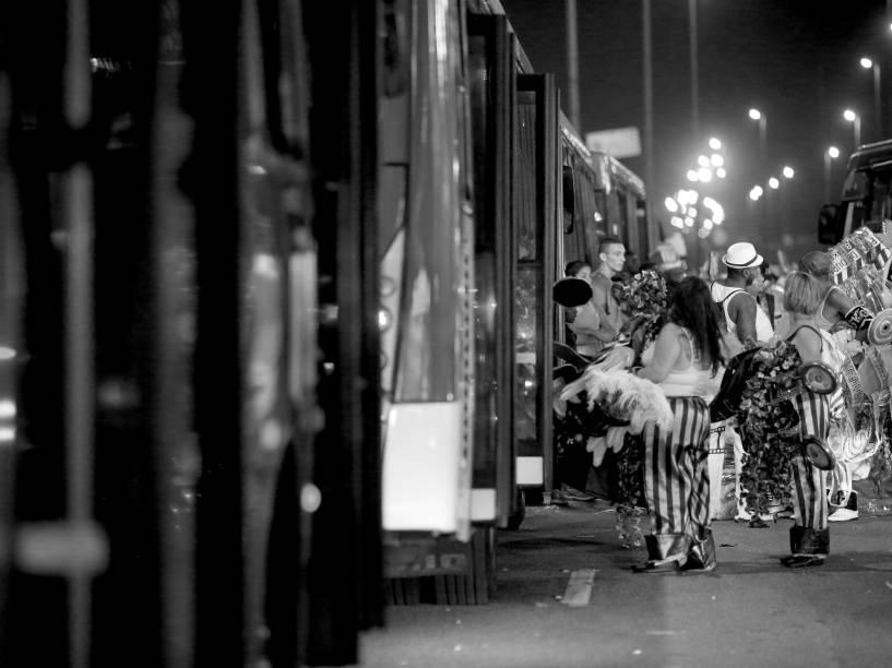 A volta para casa após desfile em São Paulo