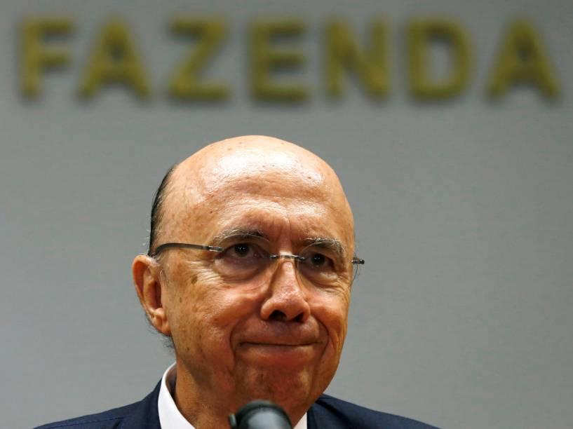 O ministro da Fazenda Henrique Meirelles durante coletiva de imprensa em Brasília (DF) - 13/05/2016