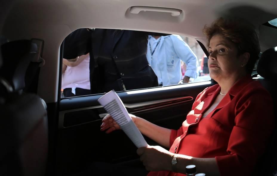 Dilma Rousseff, presidente e candidata a reeleição, durante campanha na cidade de São Paulo (SP) - 09/09/2014