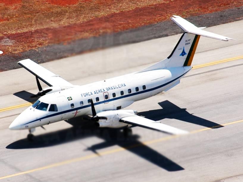 Embraer VC-97 Brasília prestes a decolar na Base Aérea de Campo Grande