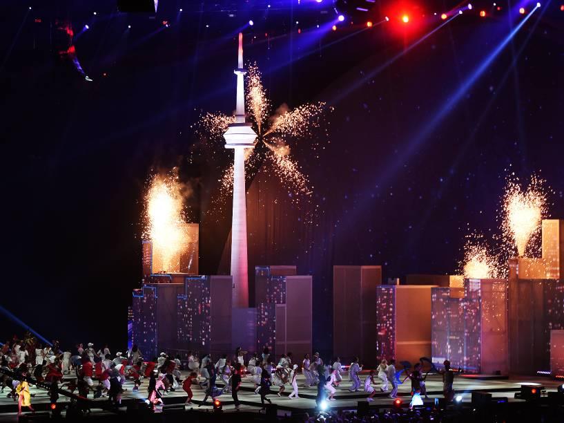 Cerimônia de encerramento do Pan, no Canadá