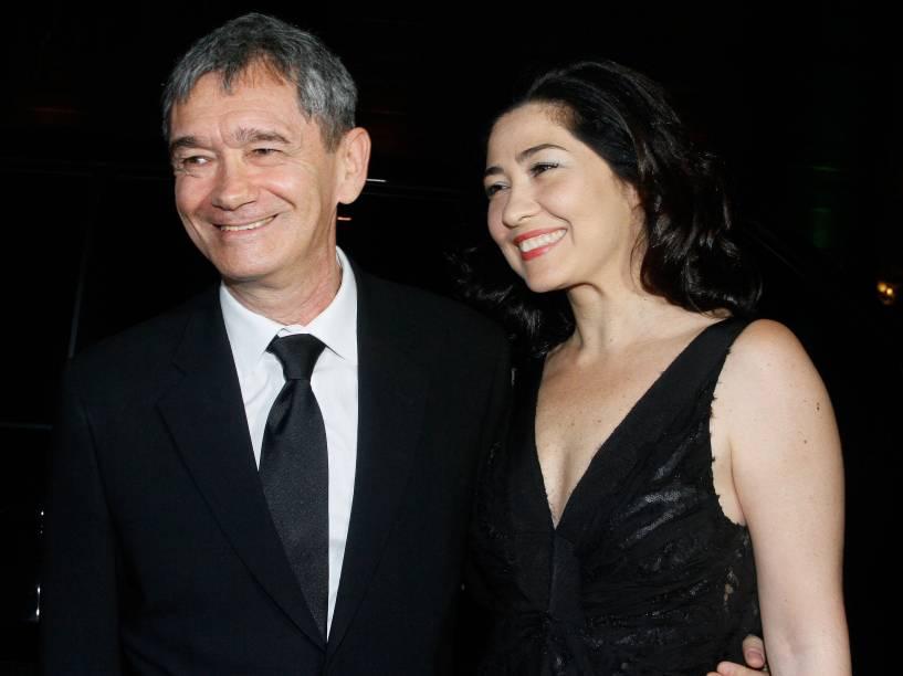 Serginho Groisman e a esposa Fernanda Molina
