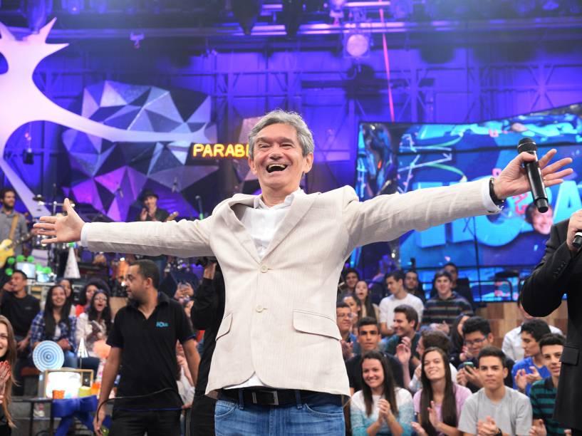 Serginho Groisman durante o Programa Altas Horas da Rede Globo em 2014