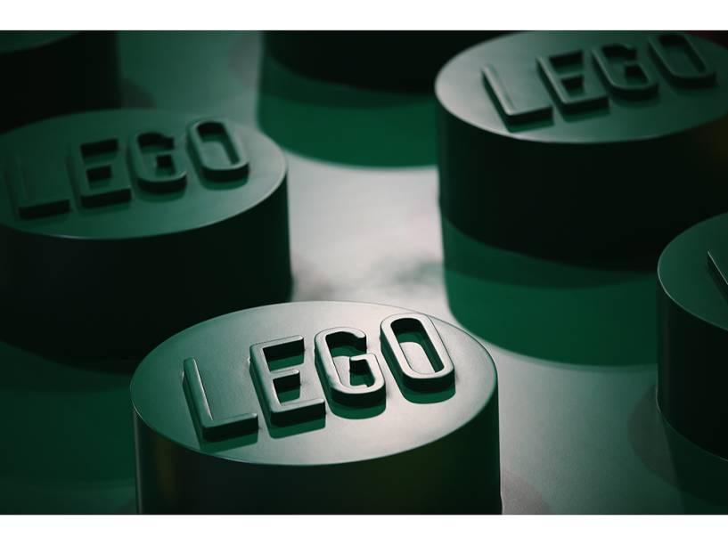 Peças de Lego são exibidas no dia da abertura da Brick 2014, em Londres, na Inglaterra