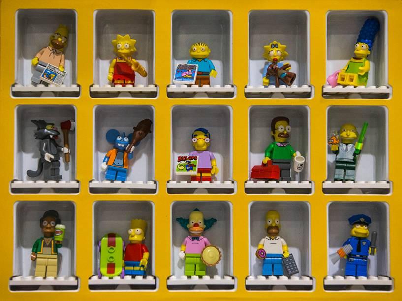 Figuras de Lego são exibidas na abertura daBrick 2014, em Londres, na Inglaterra