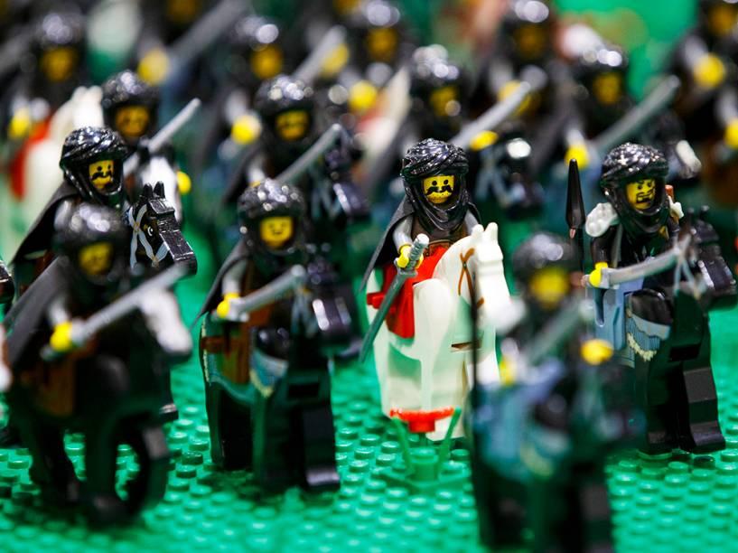 Figuras de Lego são exibidas durante a Brick 2014, em Londres, na Inglaterra