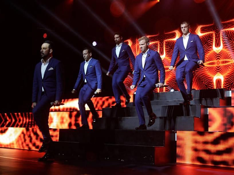 Backstreet Boys se apresentam no Citibank Hall em São Paulo pela turnê In a World Like This