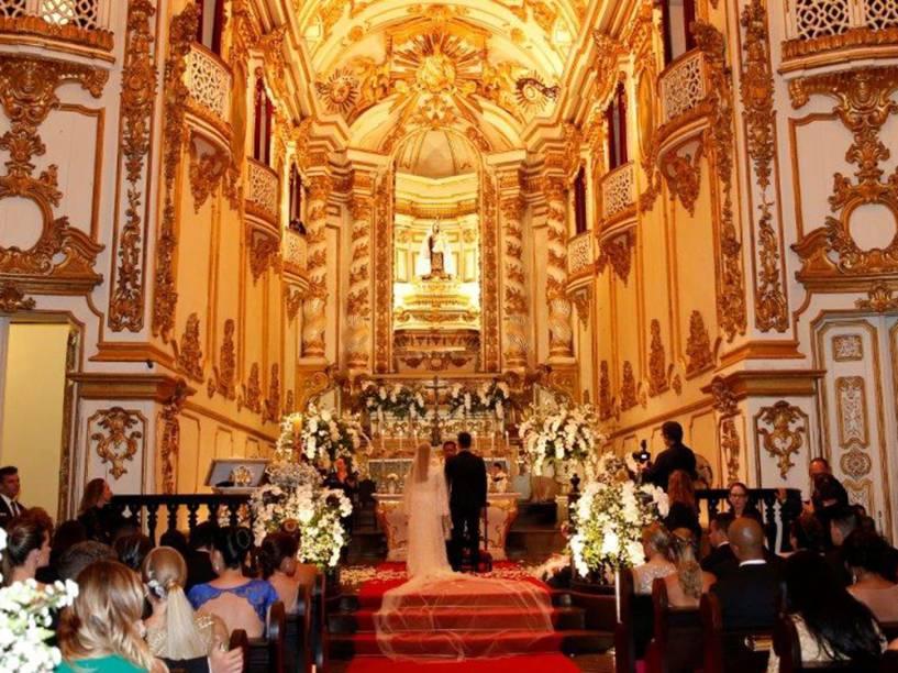 Interior da Igreja Nossa Senhora do Carmo no Rio de Janeiro