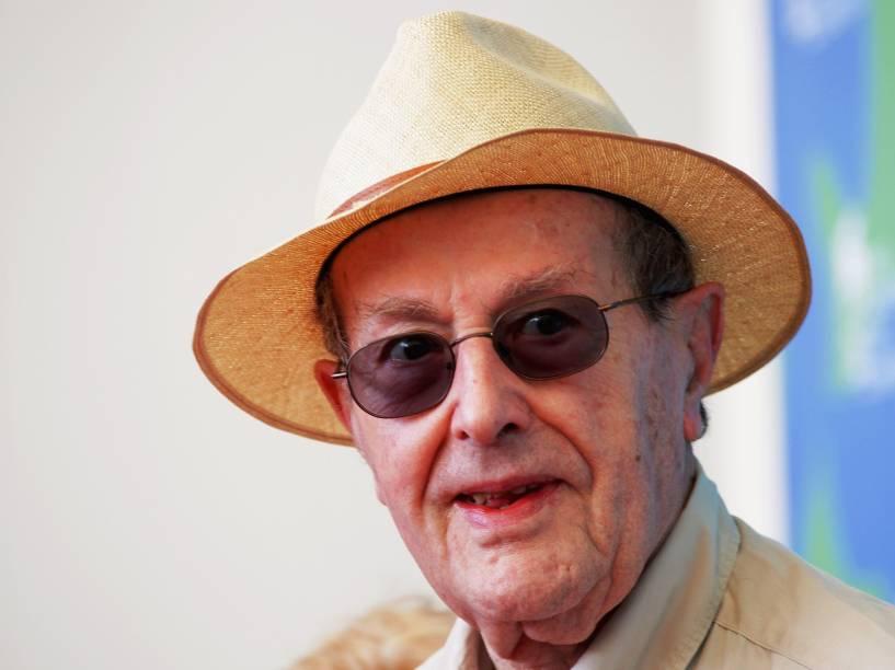 O diretor Manoel de Oliveira durante o Festival de Veneza em 2007