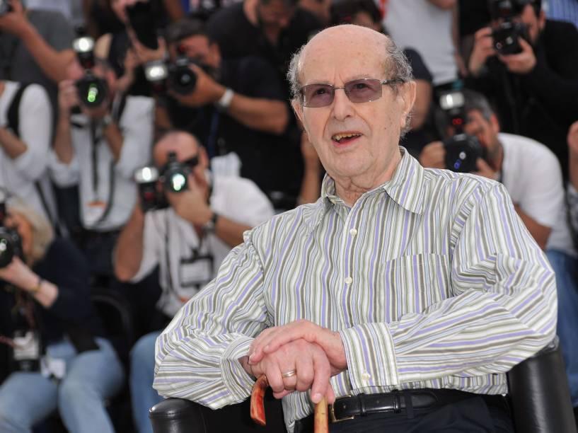 O diretor Manoel de Oliveira durante o 63º Festival de Cannes em 2010
