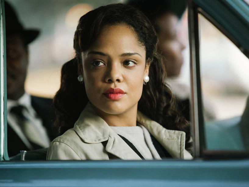 A atriz Tessa Thompson no papel de Diane Nash no filme Selma
