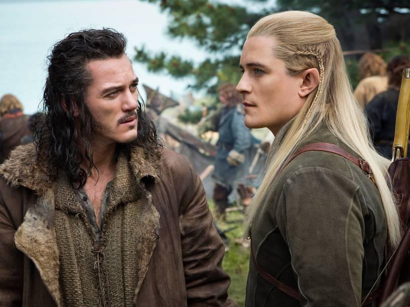 Bard (Luke Evans) e Legolas (Orlando Bloom) em cena do filme O Hobbit: A Batalha dos Cinco Exércitos
