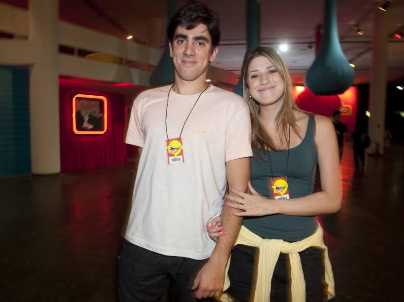 Marcelo Adnet e Dani Calabresa durante o Risadaria - Muito Além da Piada, festival de humor organizado por Paulo Bonfá, na Bienal do Ibirapuera, em São Paulo - 2010